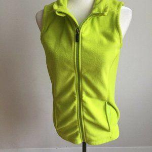 Oakley neon green vest fleece full zipper sz Small
